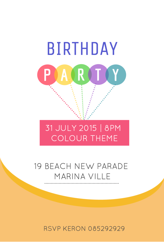 Colorful Birthday Invitation Template
