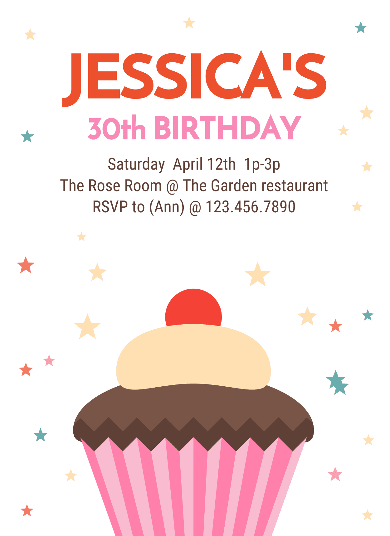 30th Birthday Party Invitation