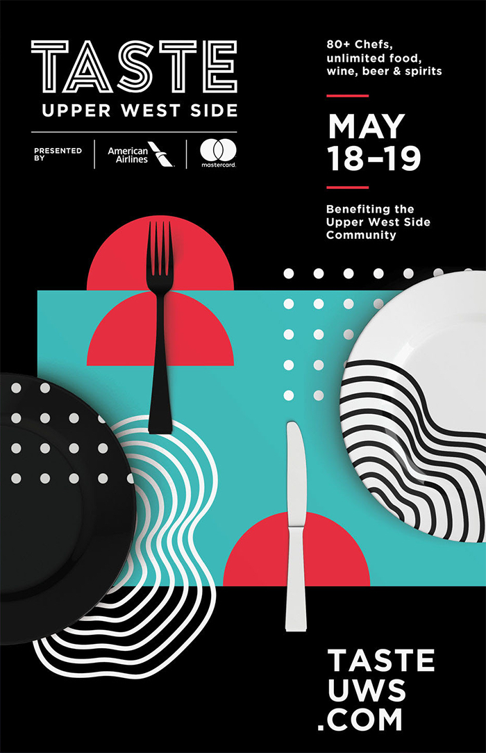 Black Modern Food Festival Event Poster Example
