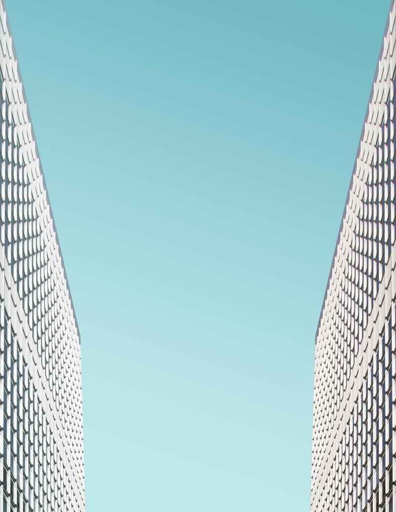 Blue Skyscraper Flyer Background Image