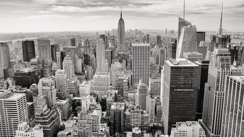 City Skyline Flyer Background Image