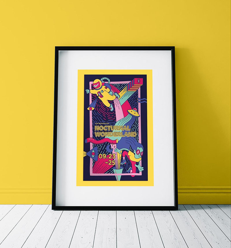 Colorful Music Festival Event Poster Example
