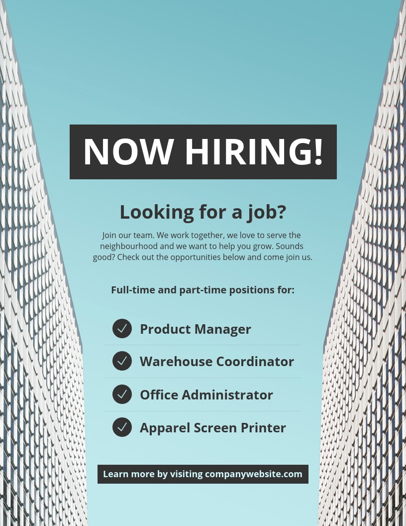 Creative Now Hiring Flyer Background Image