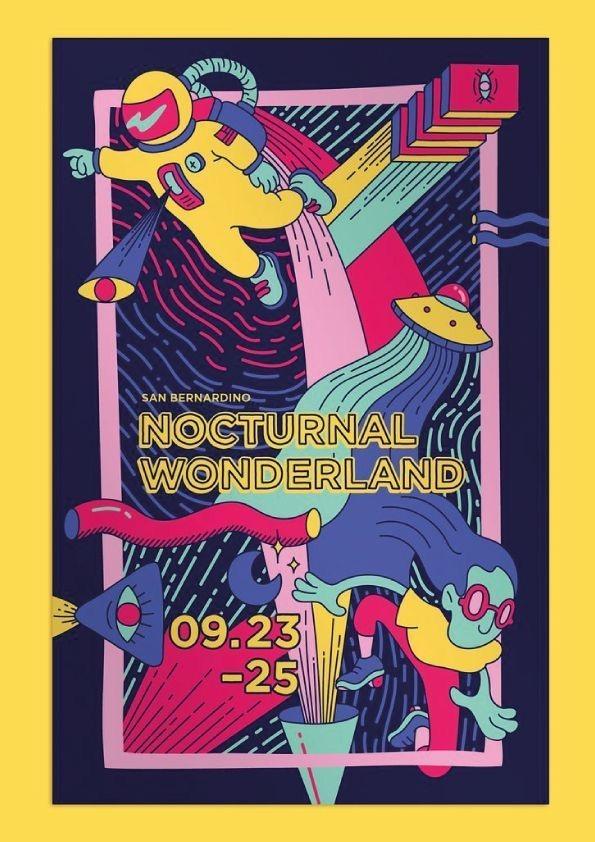 Futuristic Music Festival Event Poster Example