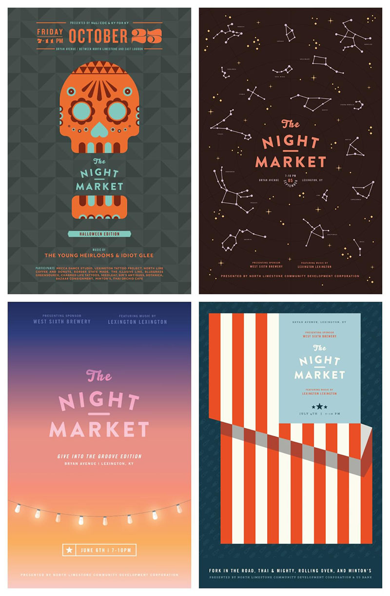 Innovative Night Market Event Poster Examples