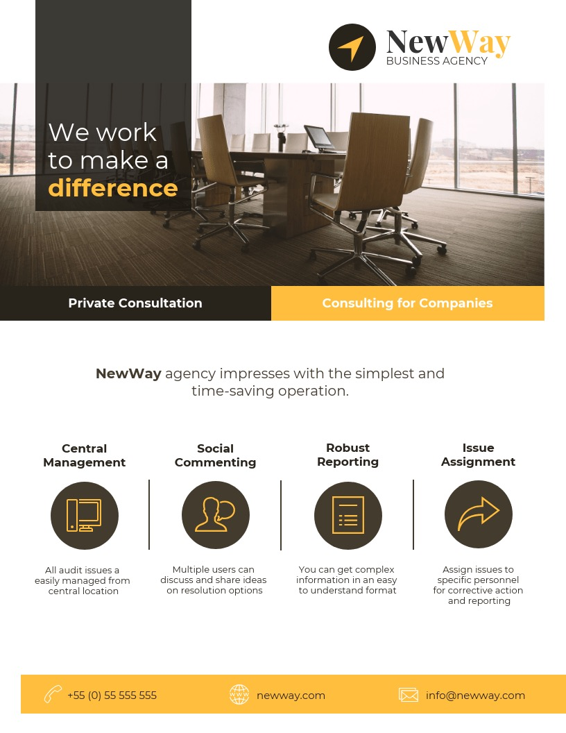 Modern Consulting Flyer Background Image