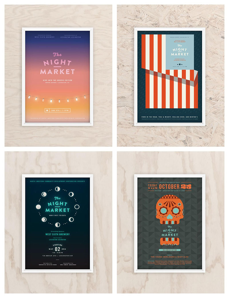 Night Market Event Poster Examples