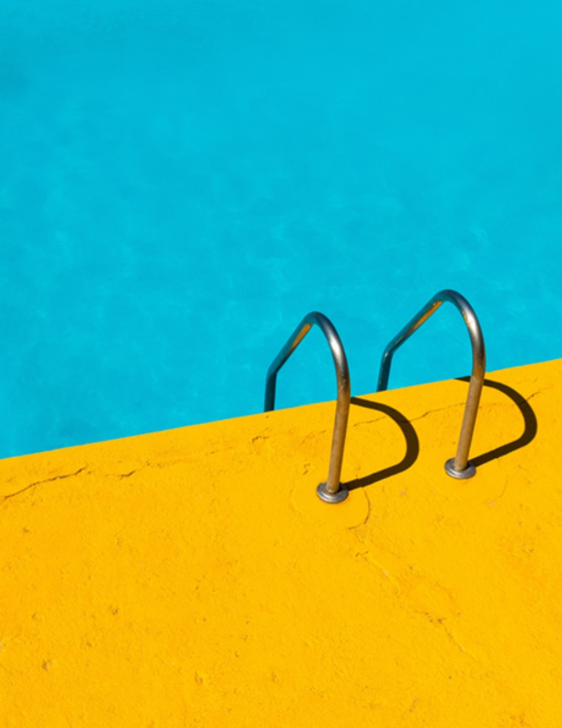 Poolside Summer Flyer Background Image