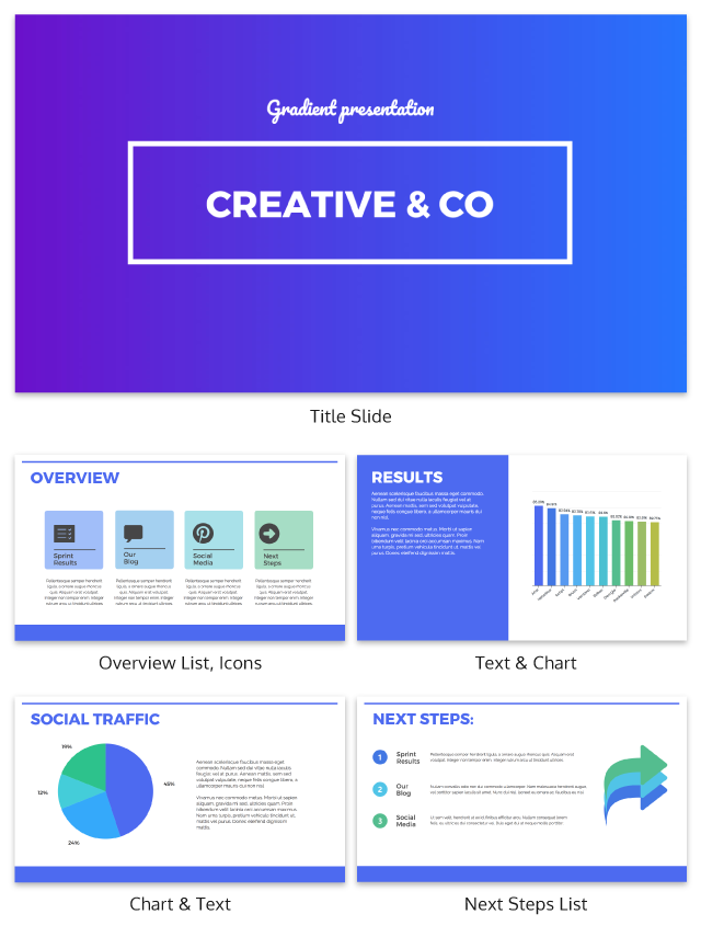 Purple Gradient Presentation Ideas