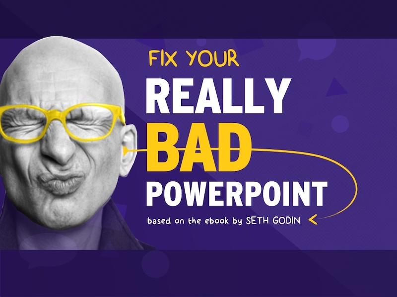 Purple Seth Godin Presentation Ideas