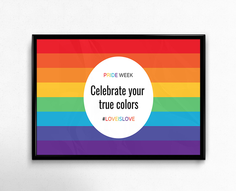 Simple PRIDE Event Poster Template