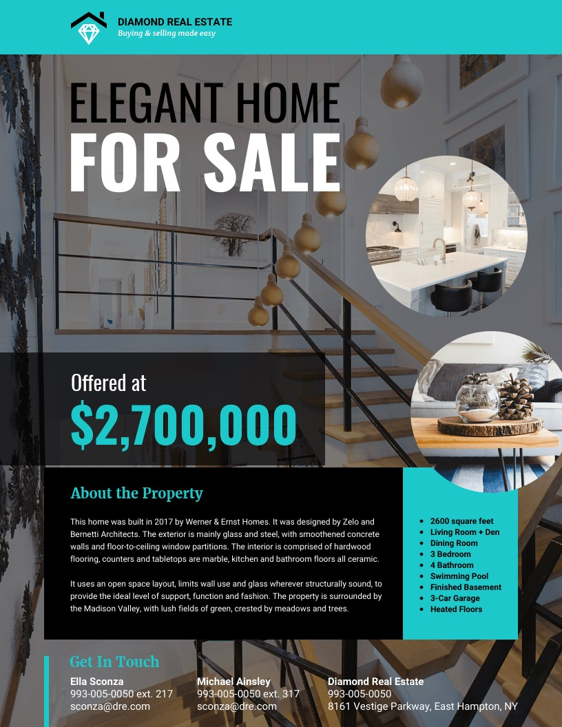Trendy Real Estate Flyer Background Image