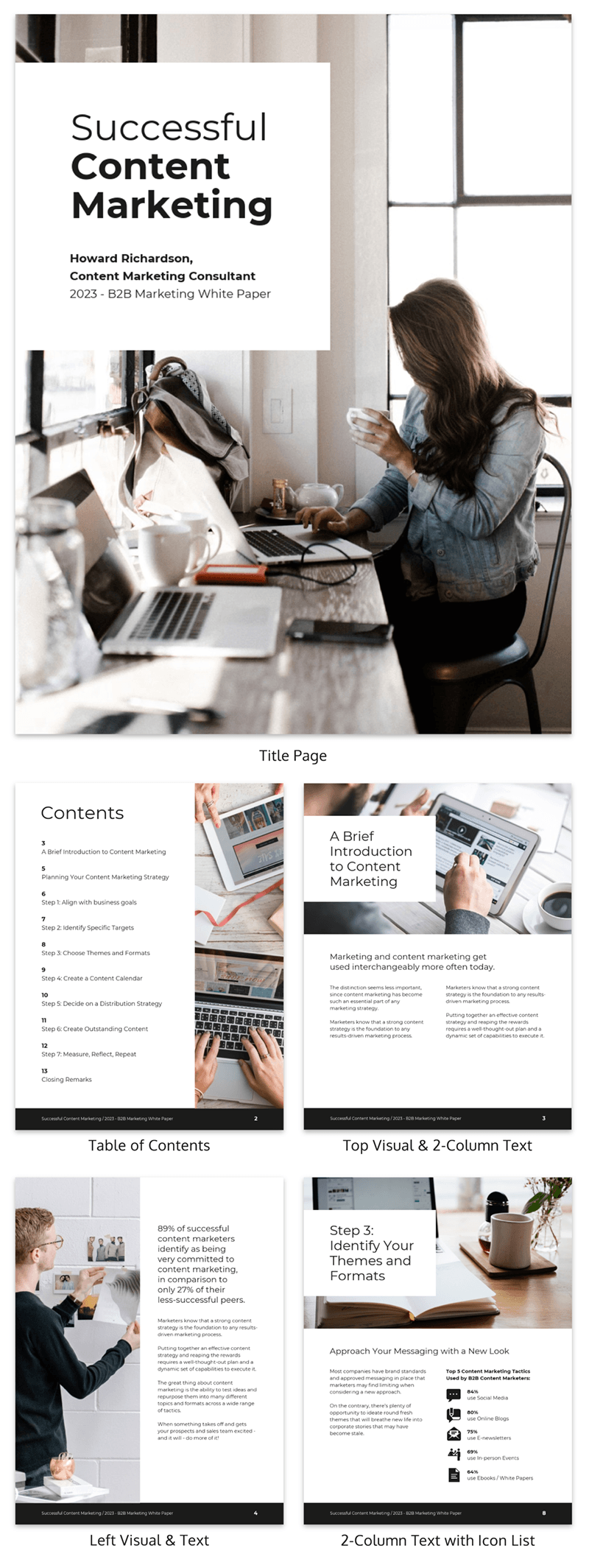 content marketing white paper template