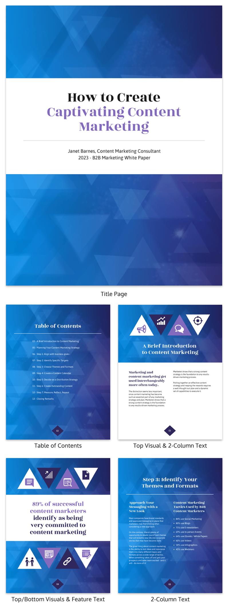 gradient marketing white paper template