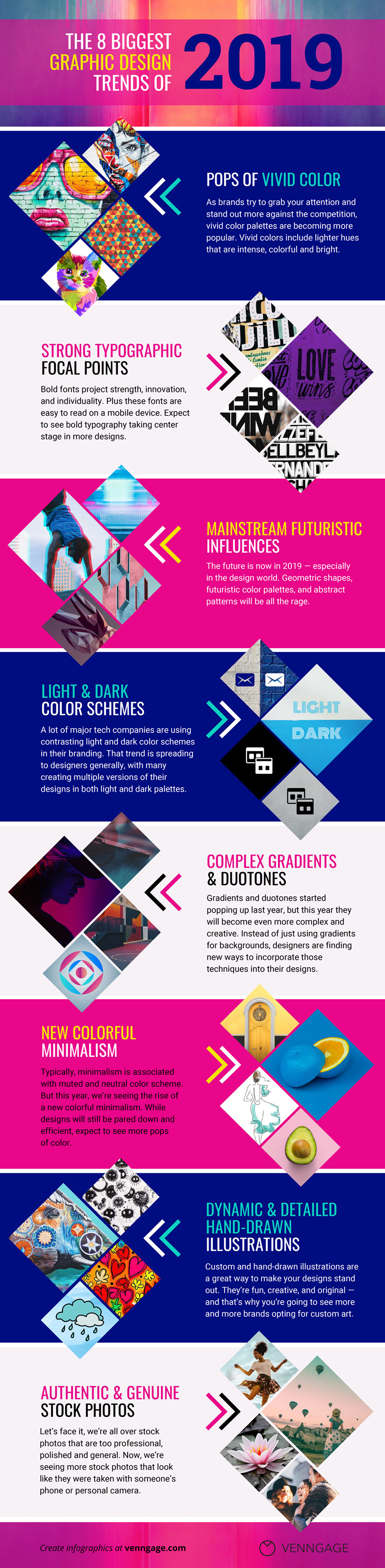 8 New Graphic Design Trends That Will Dominate 20193