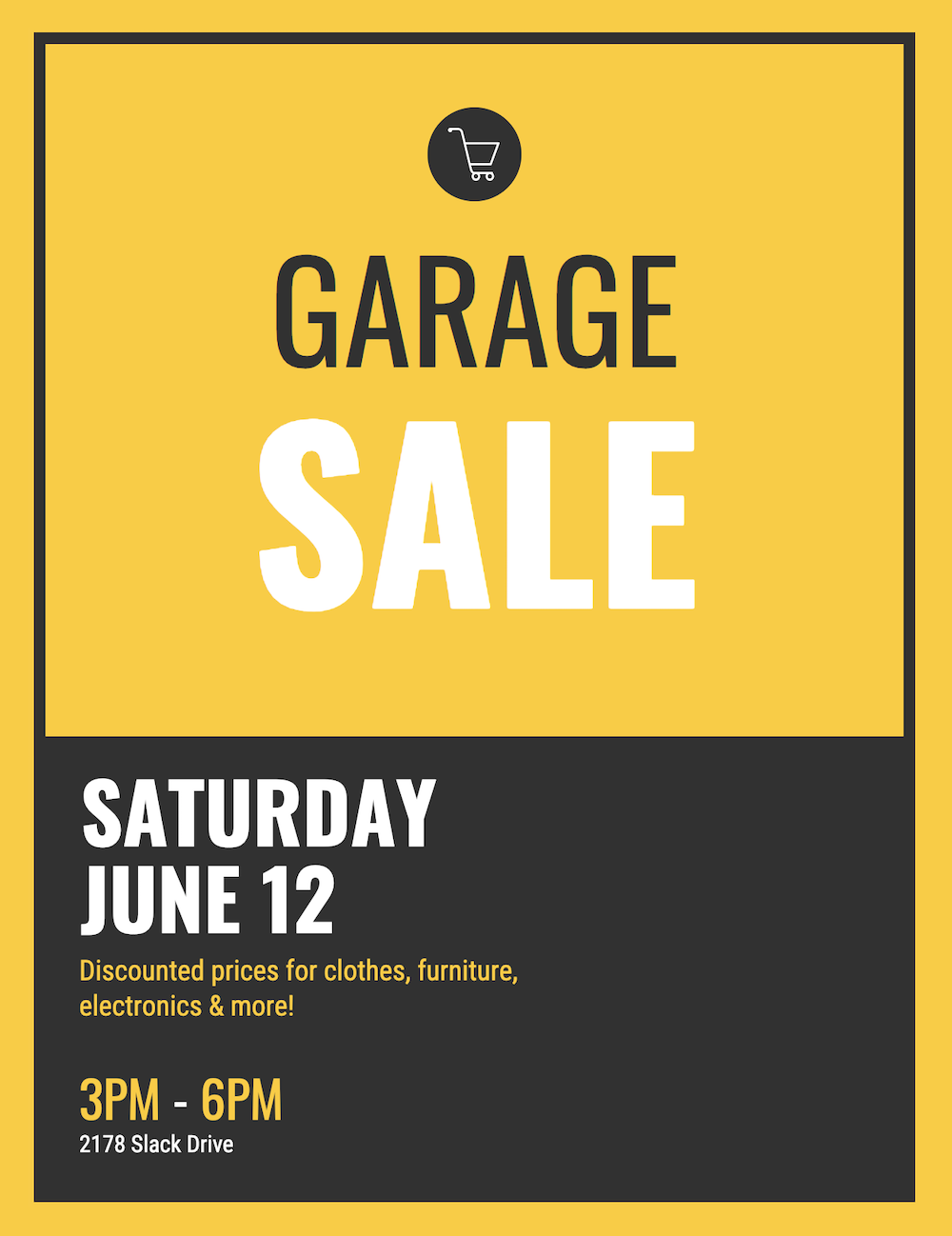 Garage Sale Event Poster Template Idea