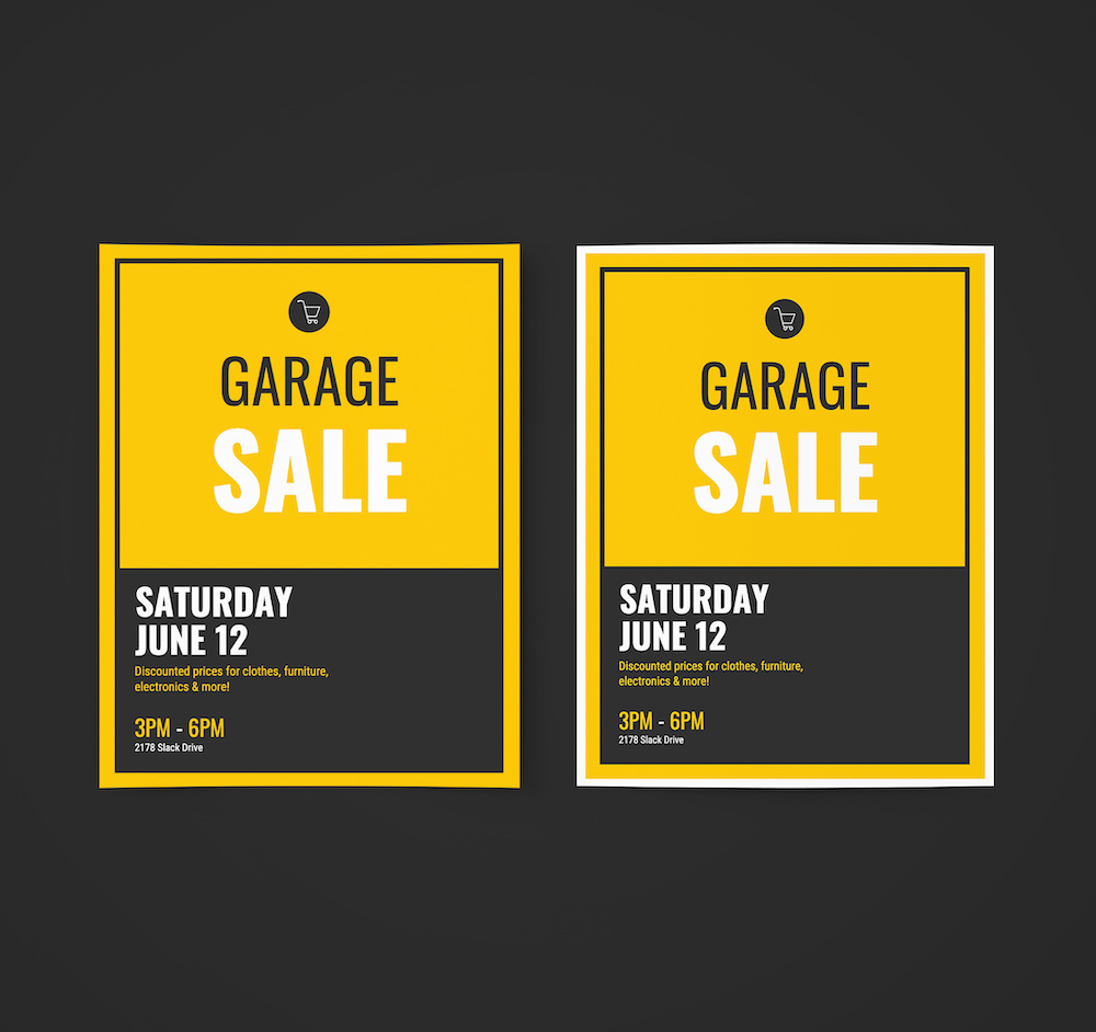 Garage Sale Event Poster Ideas