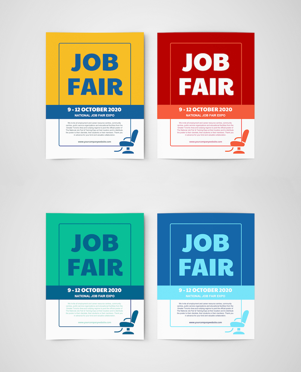 Job Fair Event Poster Template5