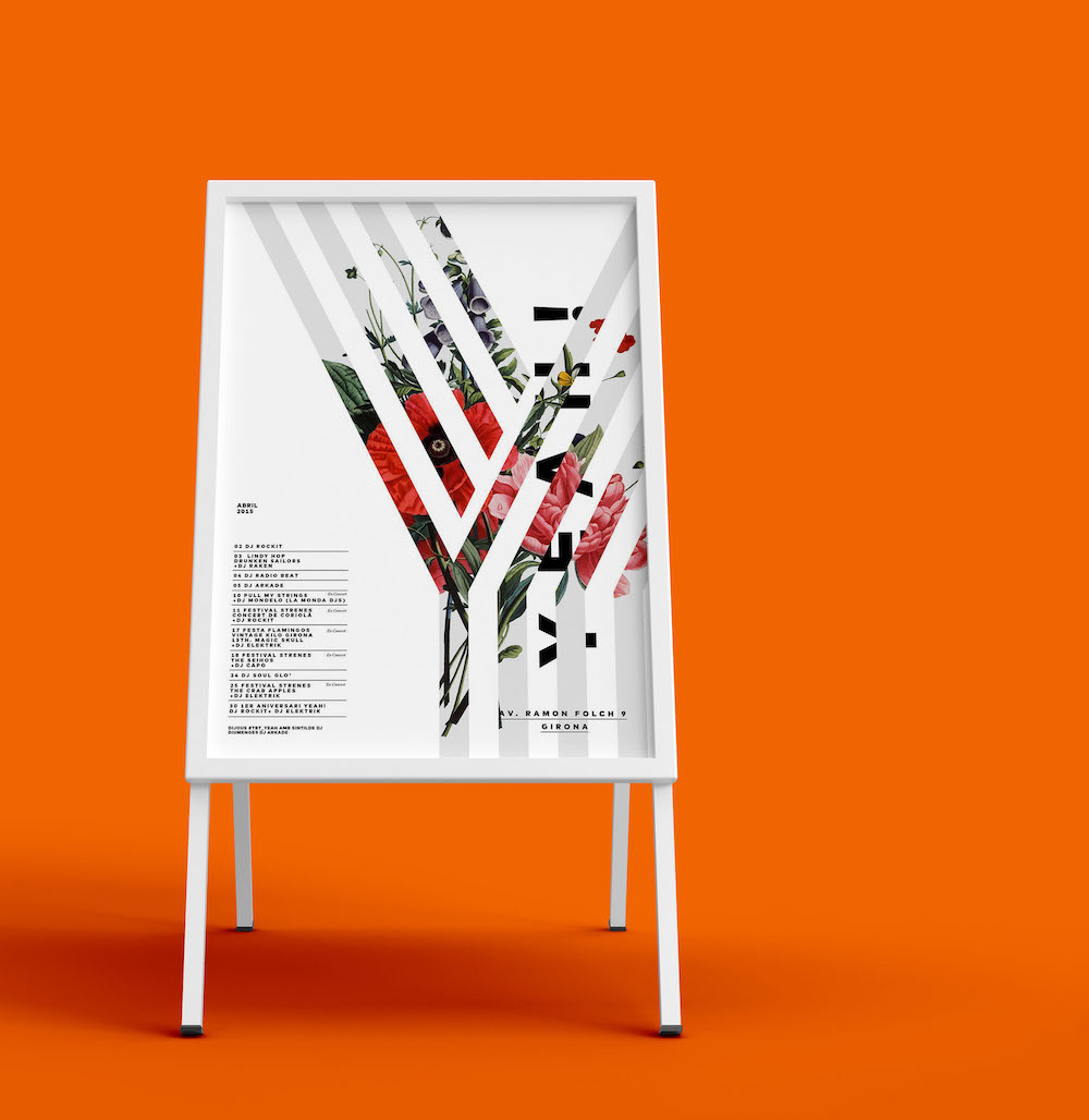 Modern Minimalist Event Poster Idea