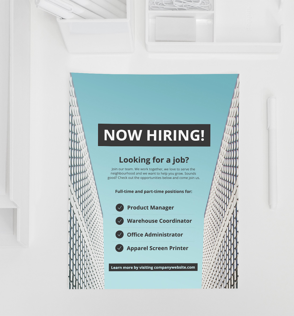 Modern Now Hiring Creative Poster Ideas