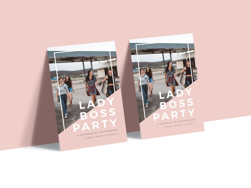 Modern Pink Party Poster Example