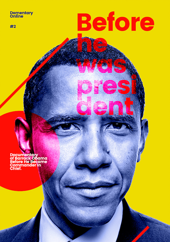 Obama Modern Creative Poster Idea