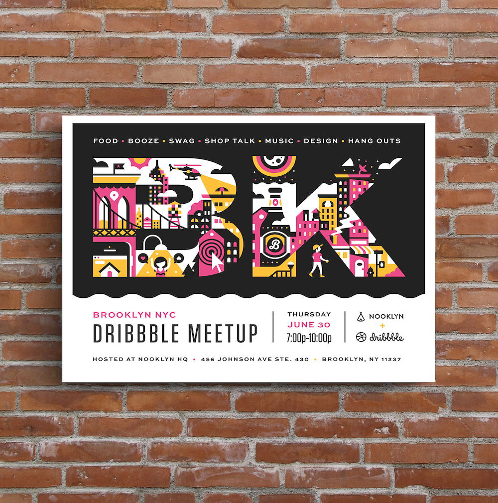 Pink Orange Horizontal Creative Event Poster Example