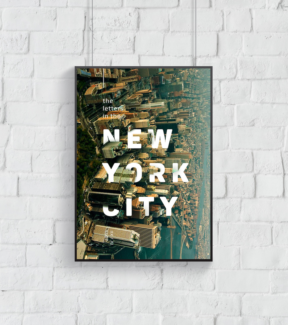 Realistic New York City Creative Poster Example
