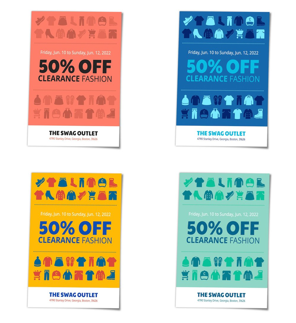 Retail Sale Clothing Poster Template All