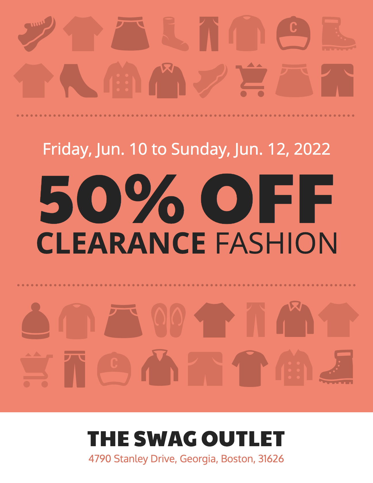 Retail Sale Clothing Poster Templates
