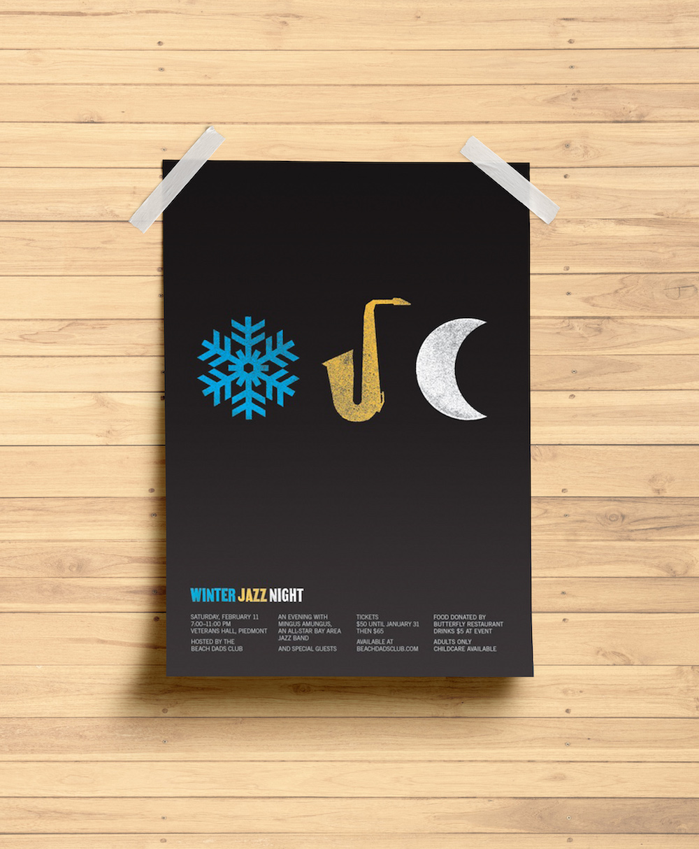 Simple Black Winter Creative Poster Example2