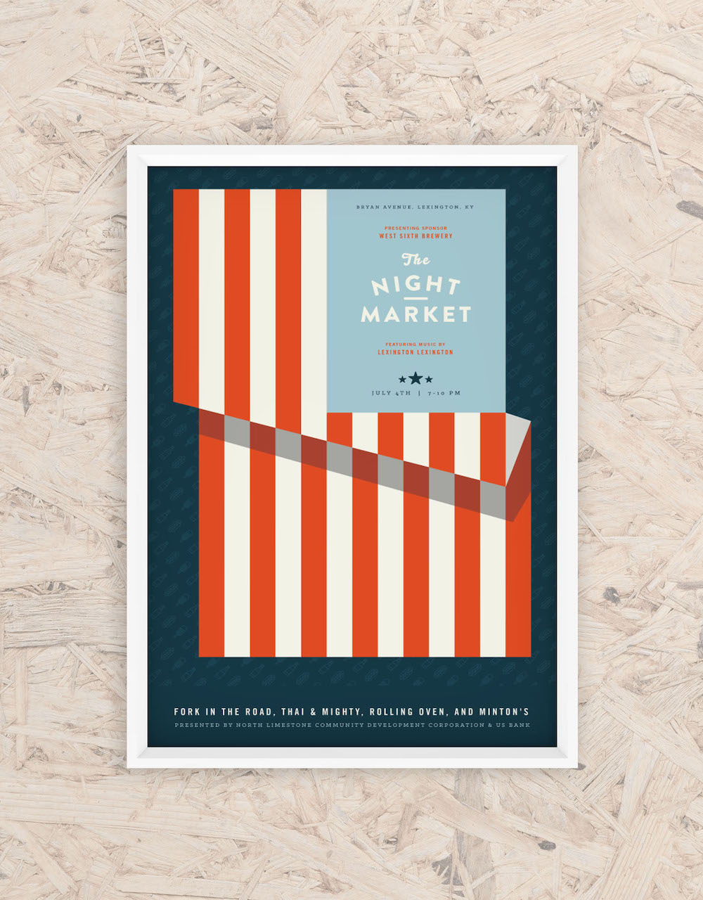 Summer Market Creative Event Poster Idea
