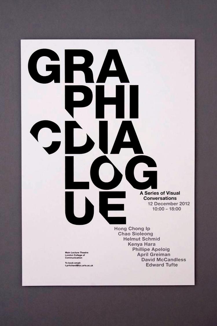 White Minimalist Typography Poster Idea