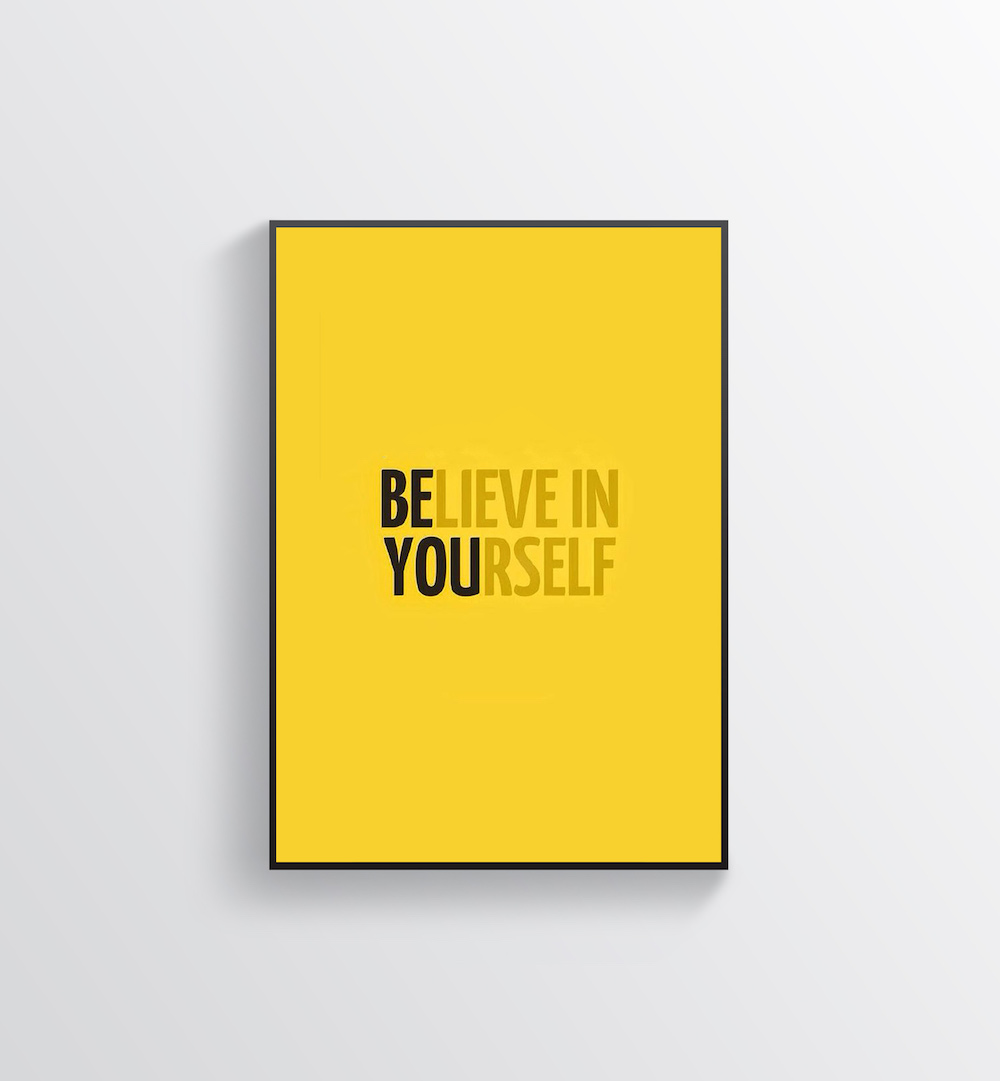 Yellow Motivational Creative Poster Example