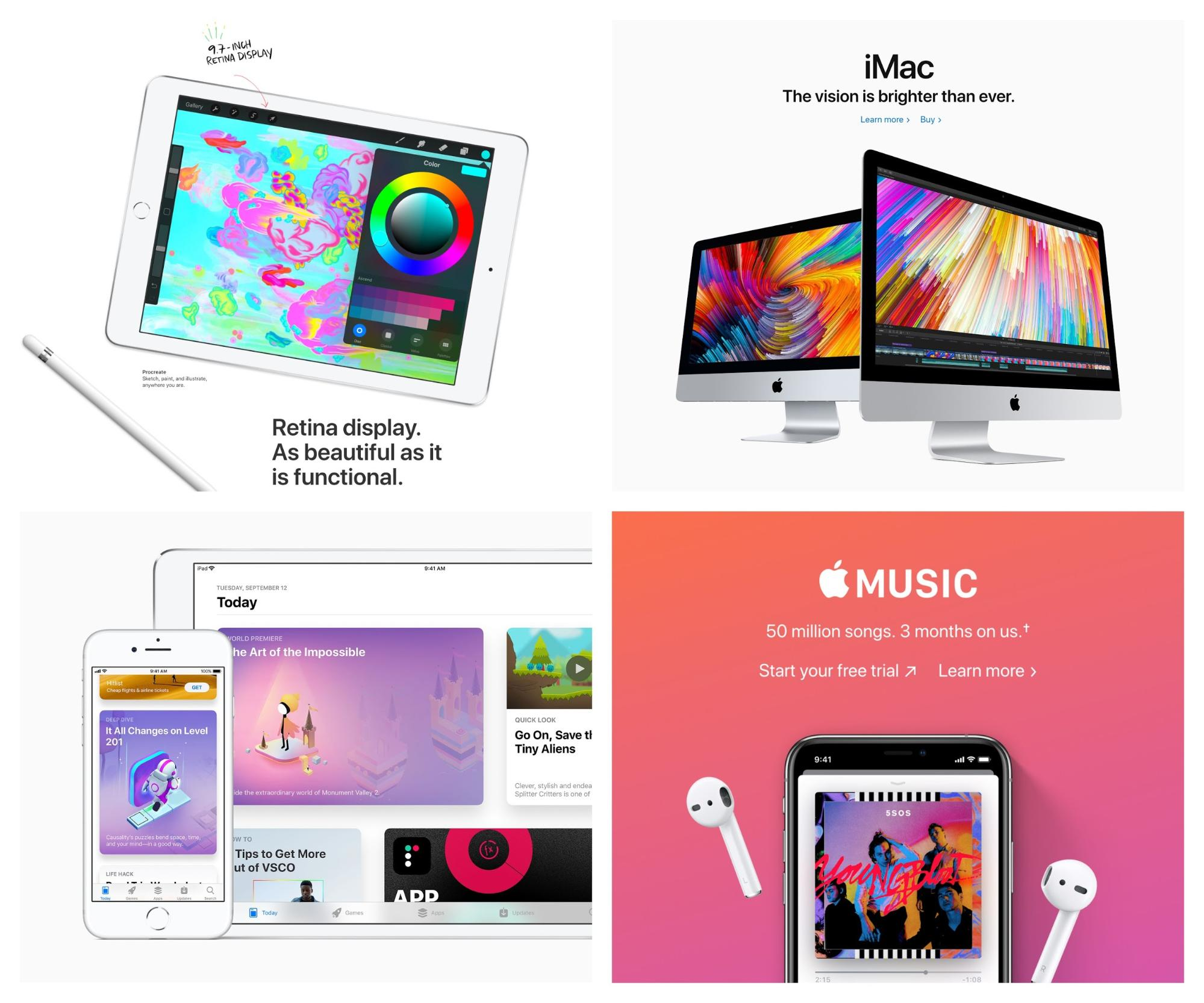 Graphic Design Trends 2019 - Vivid Colors Apple