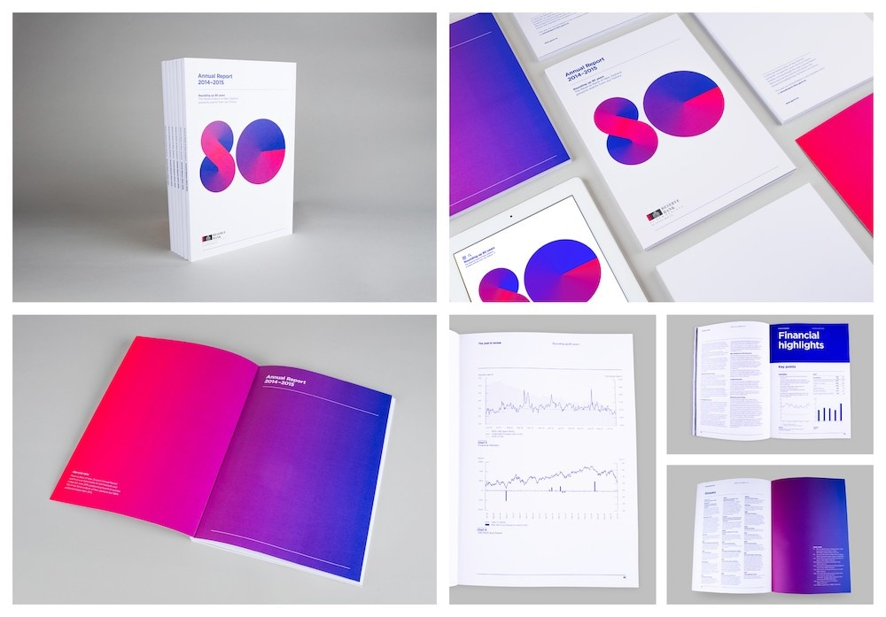 Minimalist Gradient Business Annual Report Template