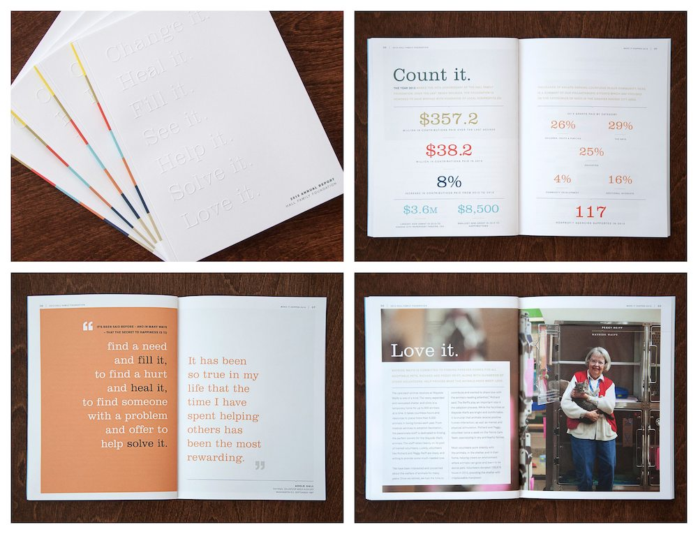 Minimalist Hall Family Foundation Non Profit Annual Report