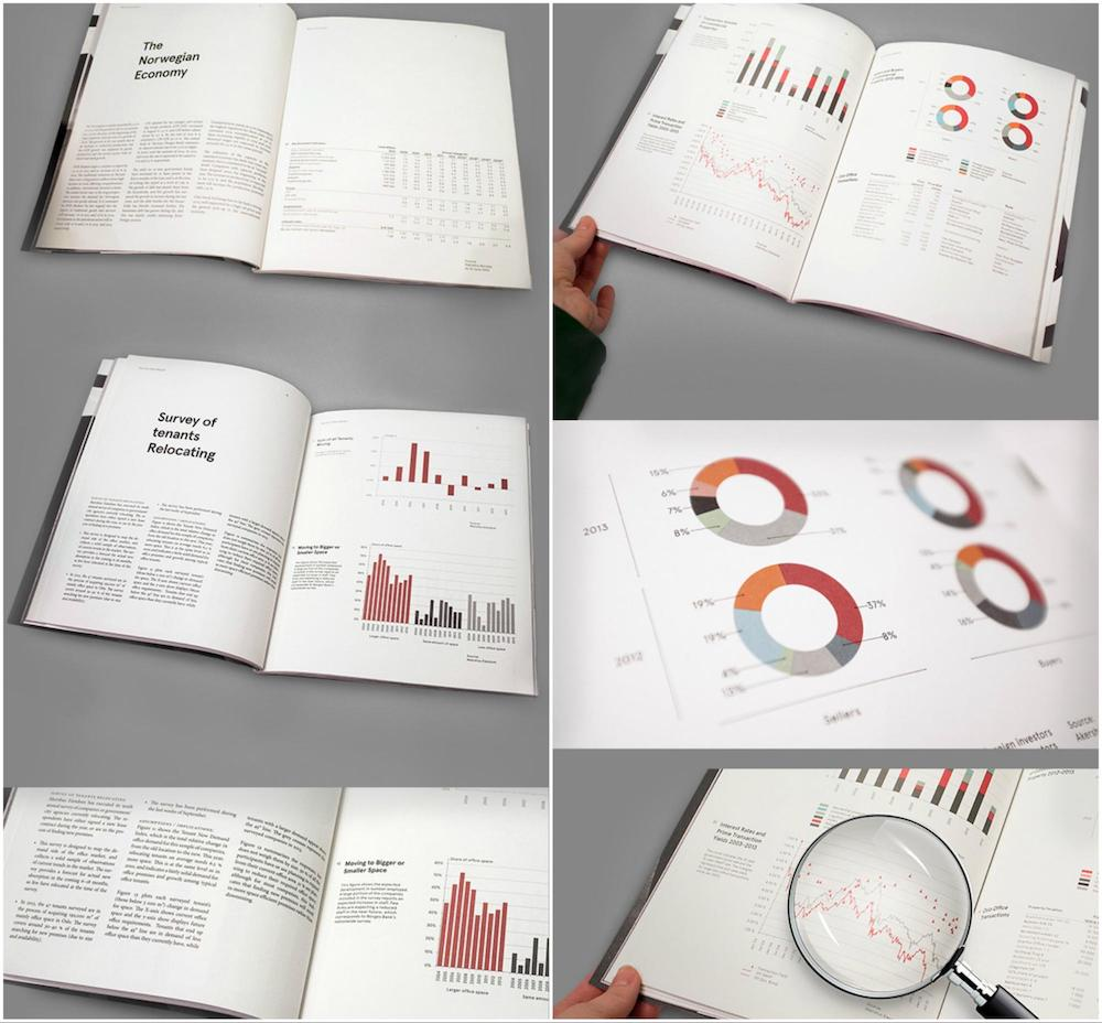 Minimalist White Infographic Annual Report Example