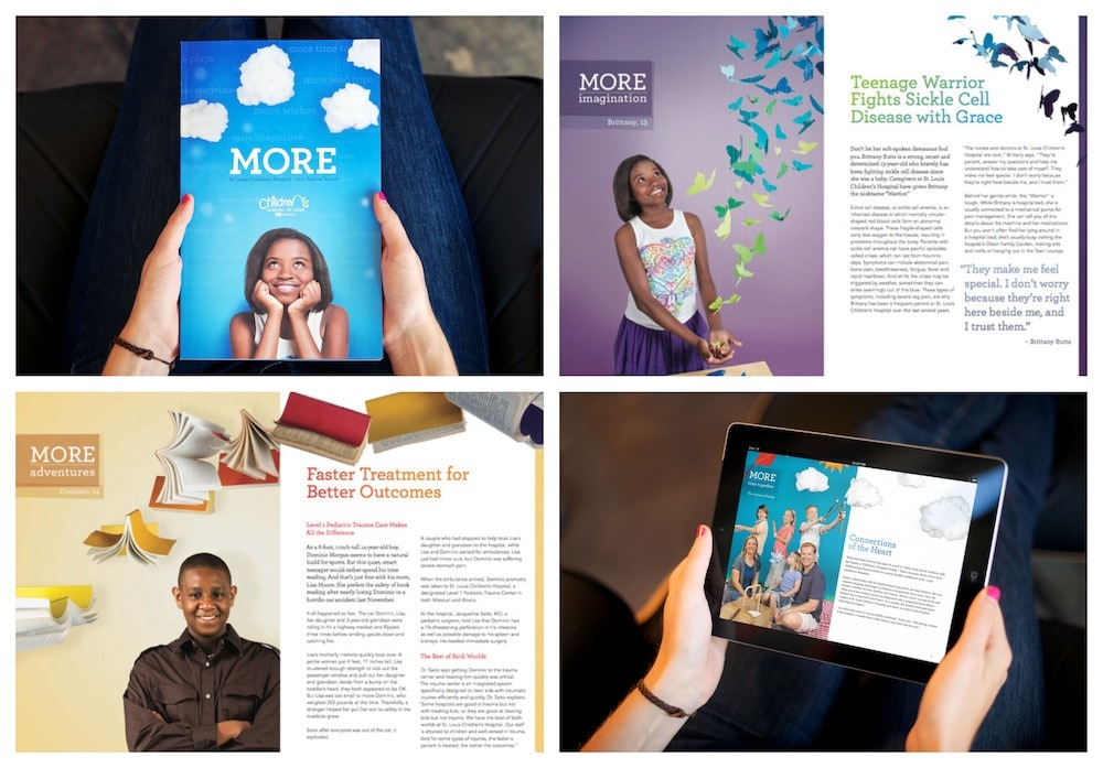 St. Louis Children's Hospital's Non Profit Annual Report Example