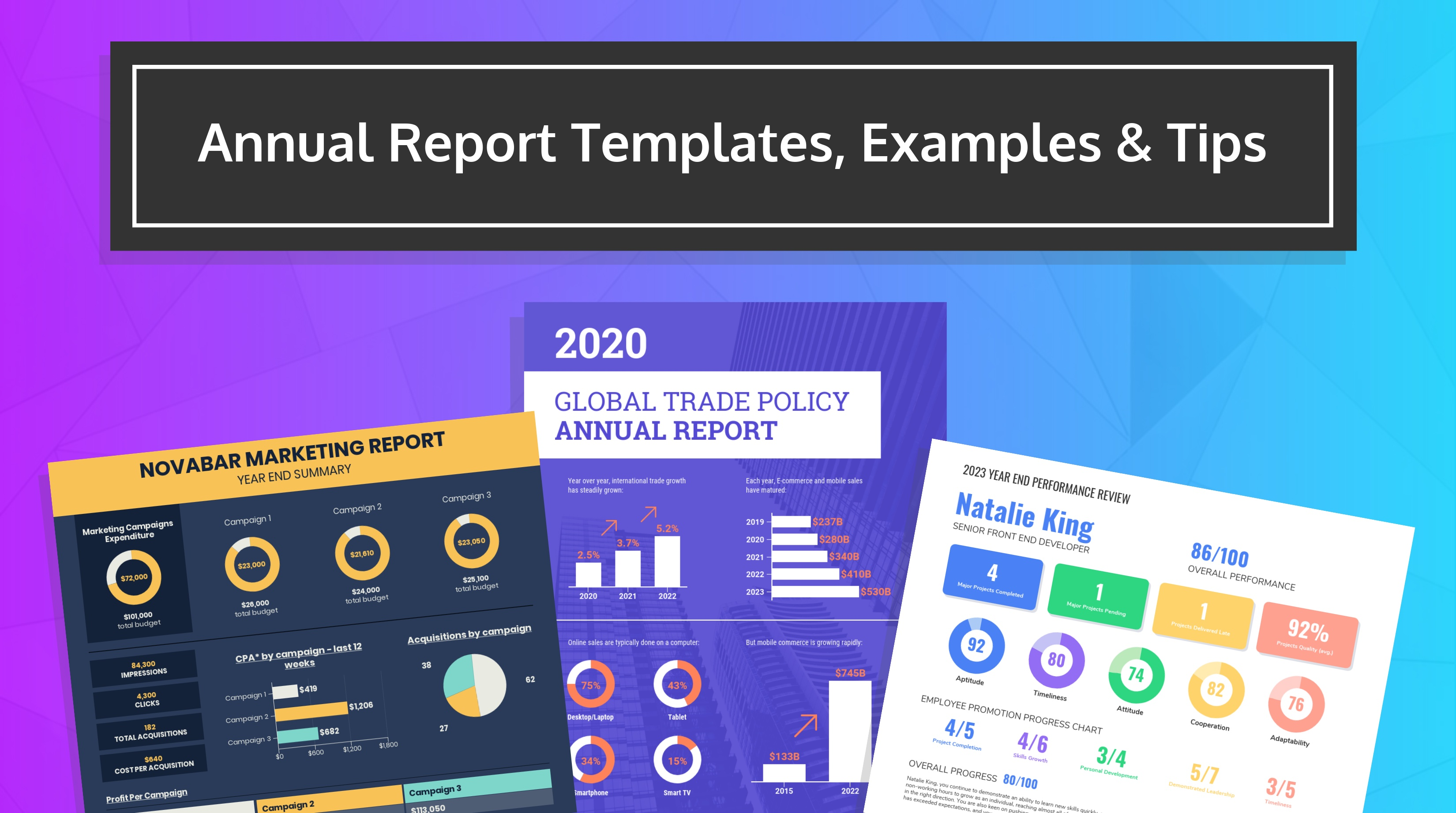 55 Annual Report Design Templates Inspirational Examples