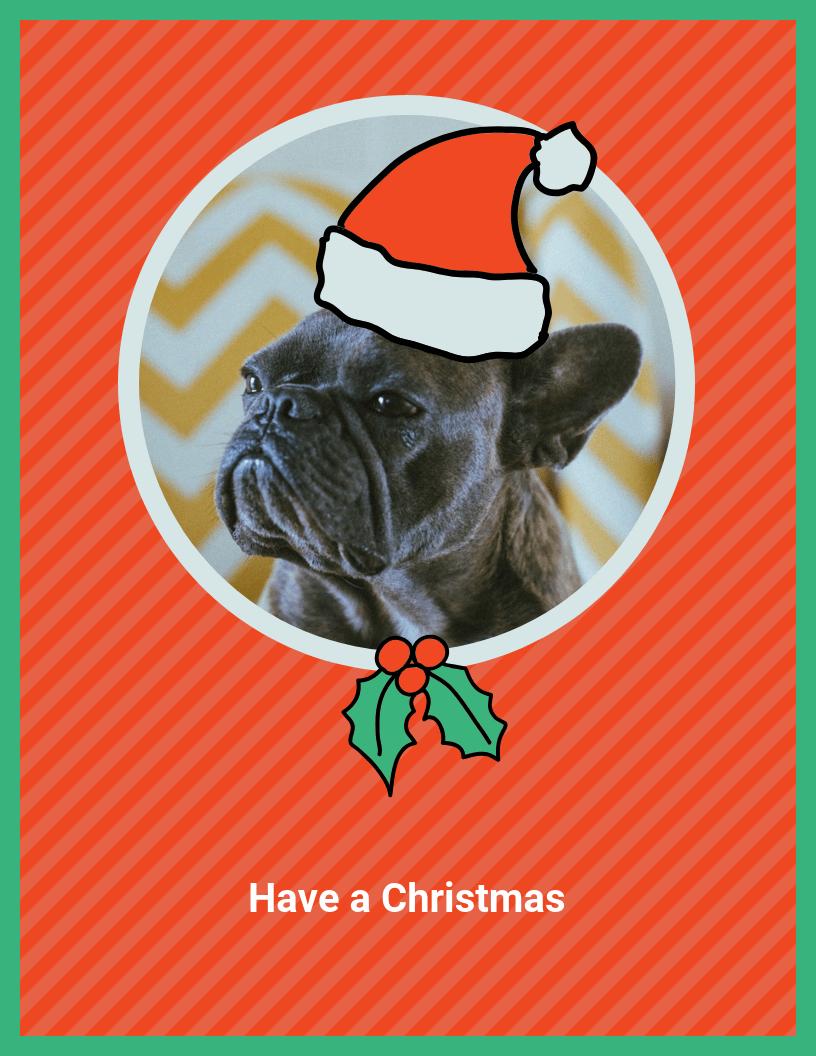 funny dog christmas card template