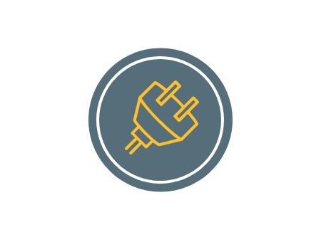 Simple Circle Tech Logo Styles