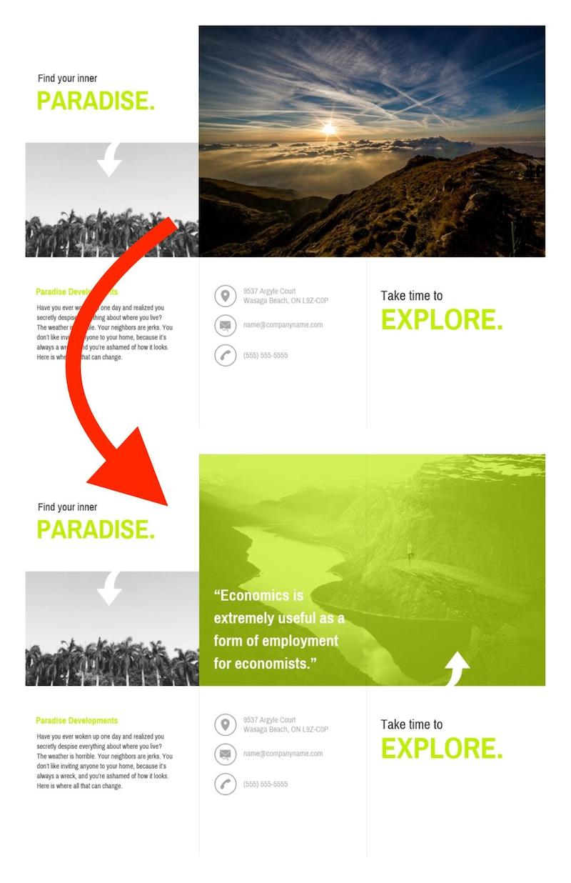 Ways to Incorporate Stock Photos Example 8