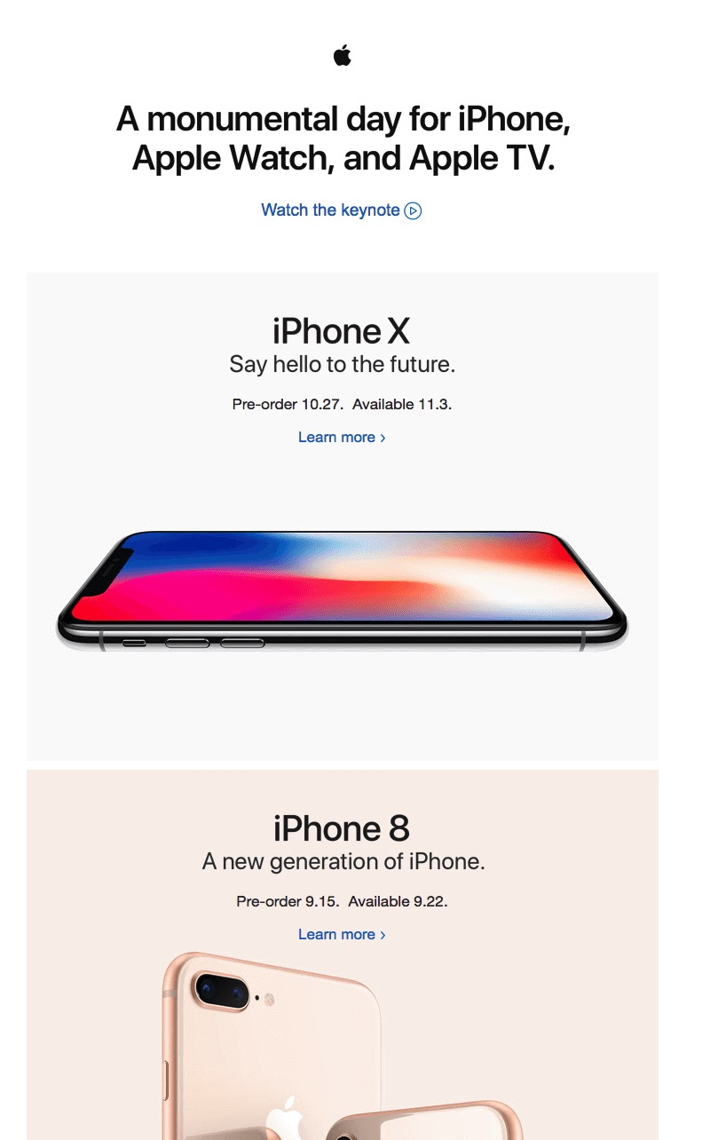 Apple Email Newsletter Template