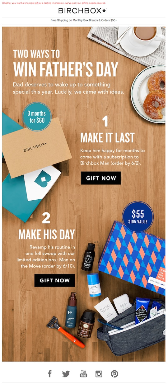 Birchbox Creative Email Newsletter Template