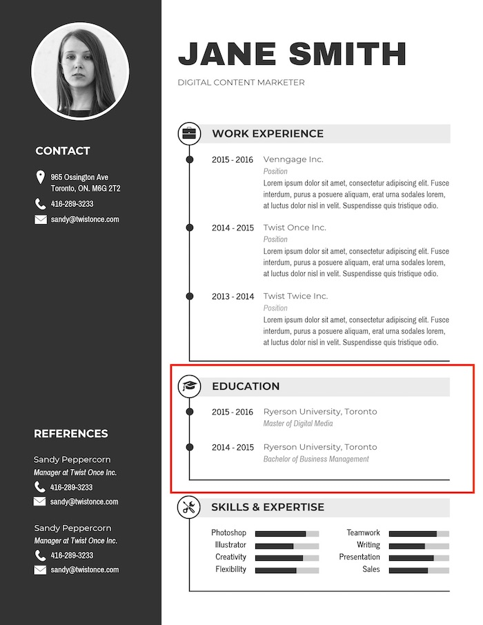 Black Simple Professional Business Resume Template1