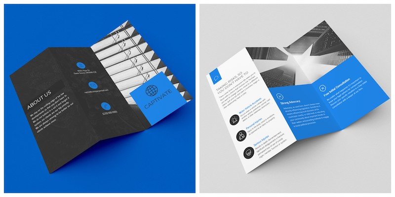 Blue Service Marketing Trifold Template