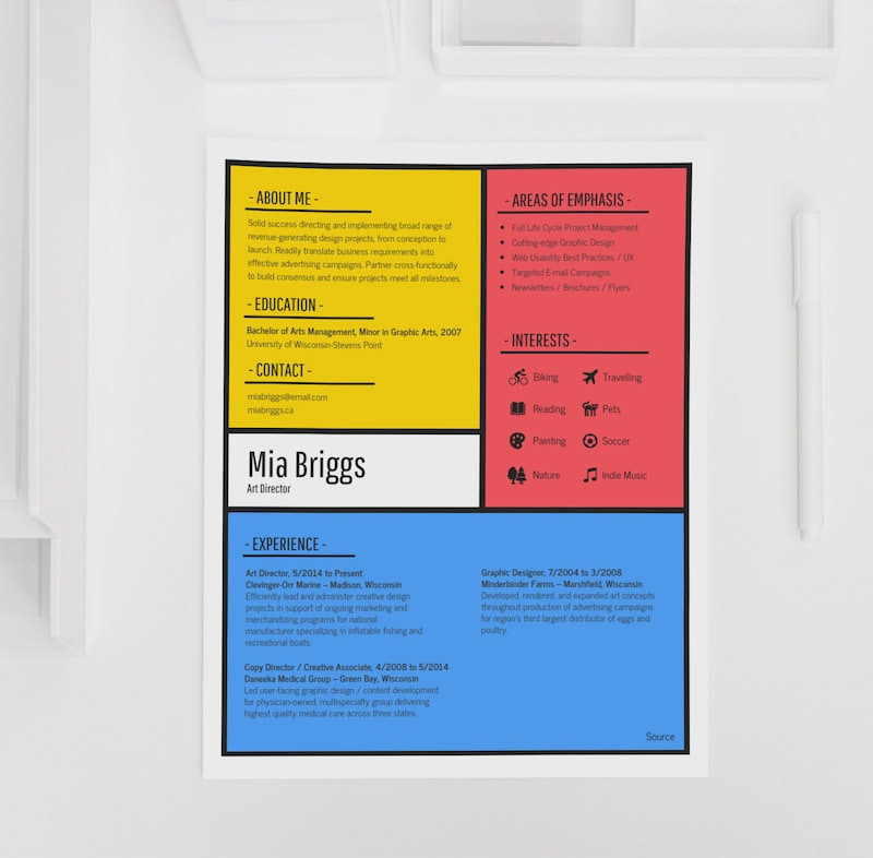 Colorful Artist Resume Design Templates