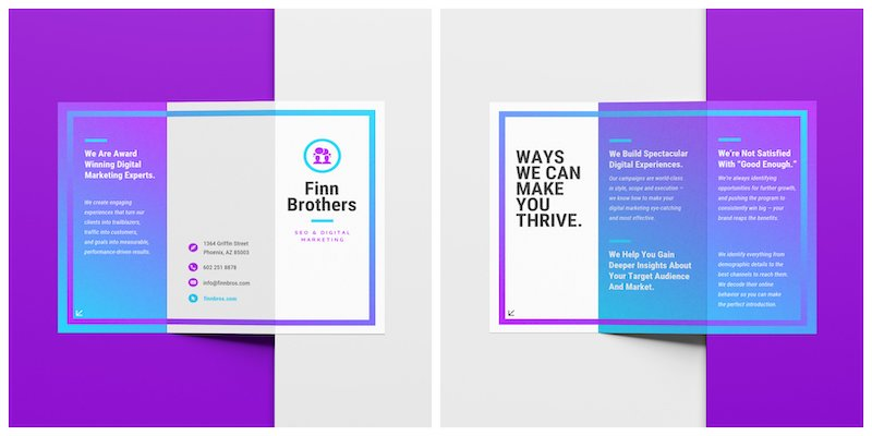 Colorful Marketing Tri Fold Brochure Template