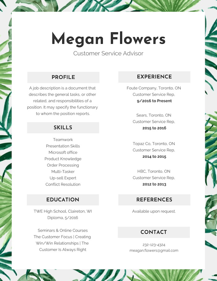 Colorful Modern Resume Design Template